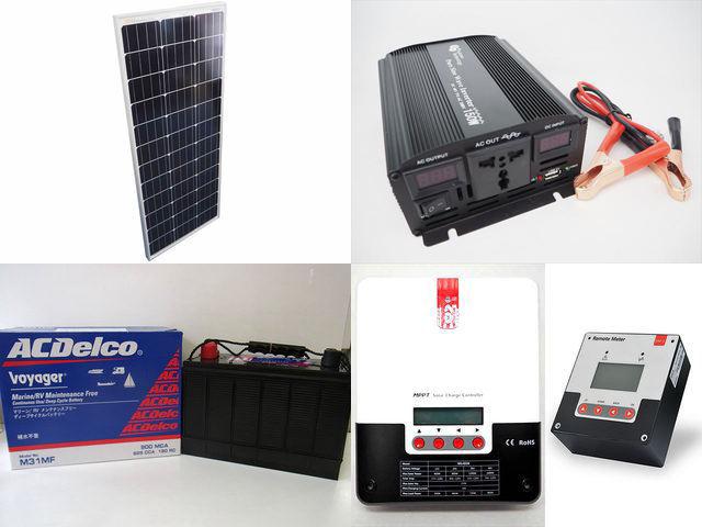 100W×10枚(1,000W) 太陽光発電システム(48V仕様) YB3600 SR-ML4830+SR-RM-5の写真です。