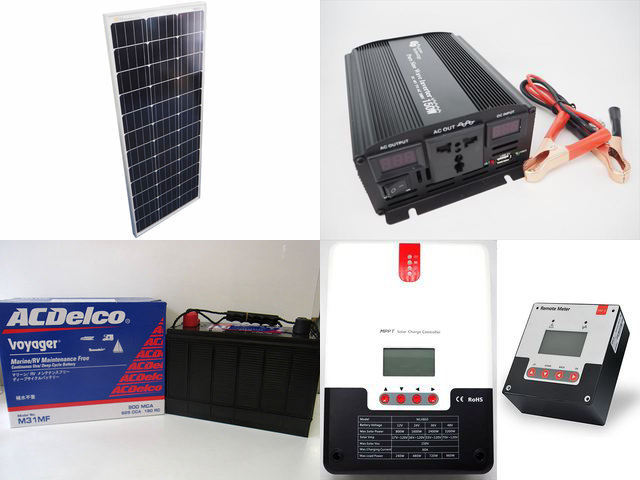 100W×10枚(1,000W) 太陽光発電システム(48V仕様) YB3600 SR-ML4860+SR-RM-5の写真です。