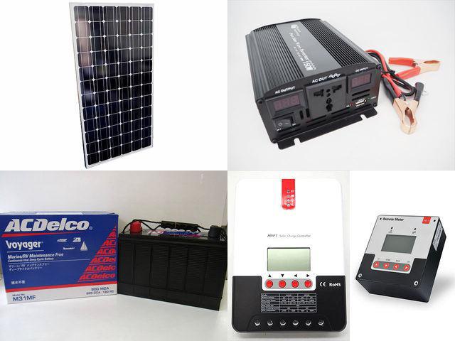 200W×2枚(400W) 太陽光発電システム(24V仕様) YB3600 SR-ML2430+SR-RM-5の写真です。