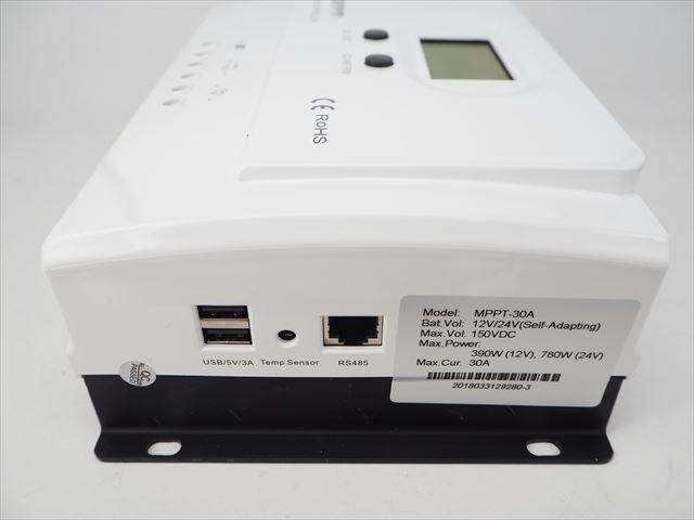 MPPTチャージコントローラー Wiser3 MPPT-30A(30A) 商品写真