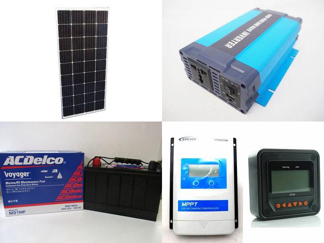 160W×3枚 (480W) 太陽光発電システム(24V仕様) HL-600P XTRA2210N-XDS1(20A)+ MT50の写真です。