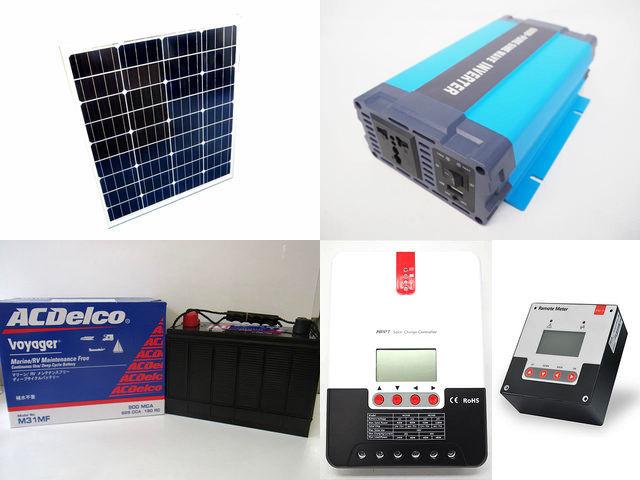 80W×3枚(240W) 太陽光発電システム HL-600P SR-ML2430+SR-RM-5の写真です。