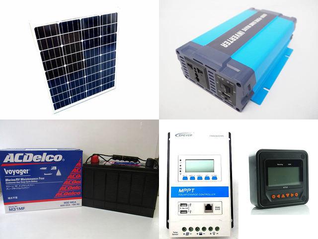 80W×3枚 (240W) 太陽光発電システム HL-600P TRIRON3210N-DS2-UCS(30A)+ MT50の写真です。