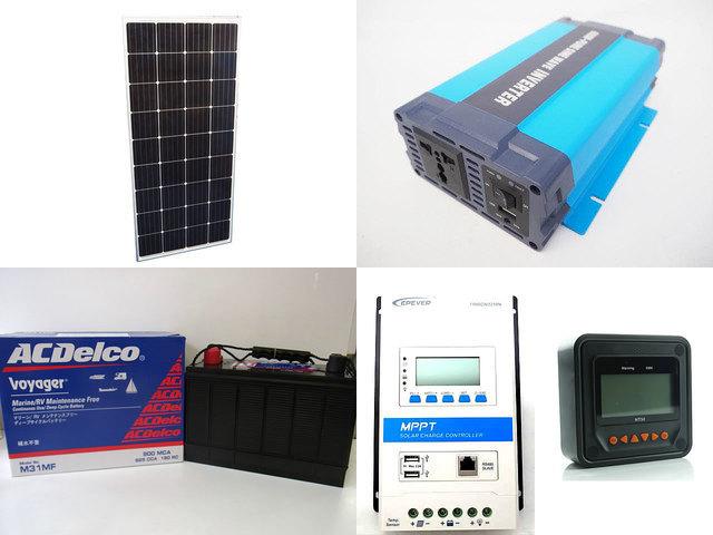 160W×3枚 (480W) 太陽光発電システム(24V仕様) HL-600P TRIRON3210N-DS2-UCS(30A)+ MT50の写真です。