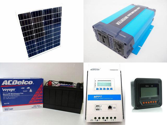 80W×3枚 (240W) 太陽光発電システム HL-600P TRIRON4210N-DS2-UCS(40A)+ MT50の写真です。