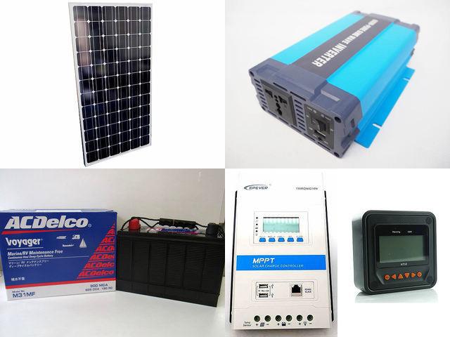 200W×2枚 (400W) 太陽光発電システム(24V仕様) HL-600P TRIRON4210N-DS2-UCS(40A)+ MT50の写真です。