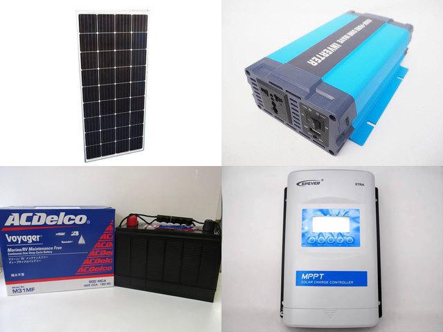 160W×3枚 (480W) 太陽光発電システム(24V仕様) HL-600P XTRA3415N-XDS2(30A)の写真です。