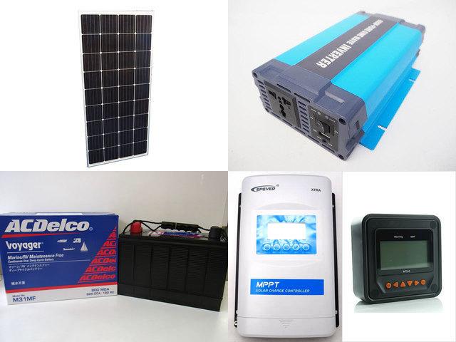 160W×3枚 (480W) 太陽光発電システム(24V仕様) HL-600P XTRA3415N-XDS2(30A)+ MT50の写真です。
