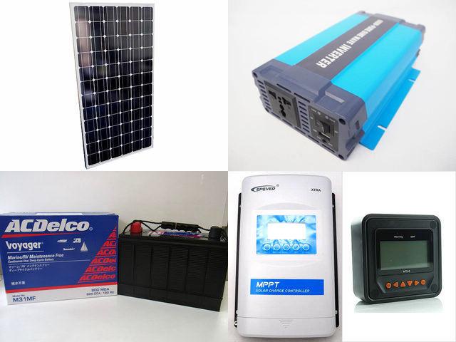 200W×2枚 (400W) 太陽光発電システム(24V仕様) HL-600P XTRA3415N-XDS2(30A)+ MT50の写真です。