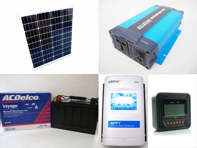80W×3枚(240W) 太陽光発電システム HL-600P XTRA4415N-XDS2(40A)+ MT50の写真です。