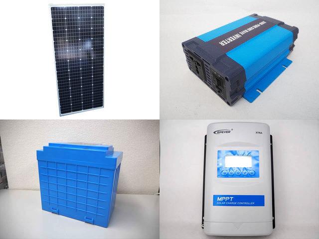 160W(66.6V) 太陽光発電システム(48V仕様) HL-300P XTRA4415N-XDS2の写真です。