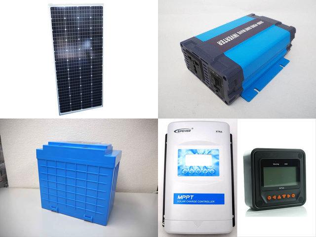 160W(66.6V) 太陽光発電システム(48V仕様) HL-300P XTRA4415N-XDS2+MT50の写真です。