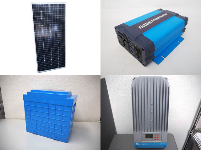 160W(66.6V) 太陽光発電システム(48V仕様) HL-300P ET6415BNDの写真です。