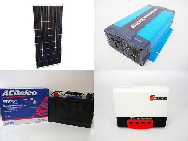 160W×3枚 (480W) 太陽光発電システム(24V仕様) HL-600P SR-MC2430N10(30A)の写真です。