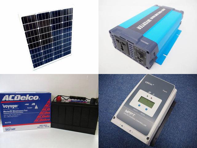80W×3枚 (240W) 太陽光発電システム HL-600P Tracer5420AN(50A)の写真です。