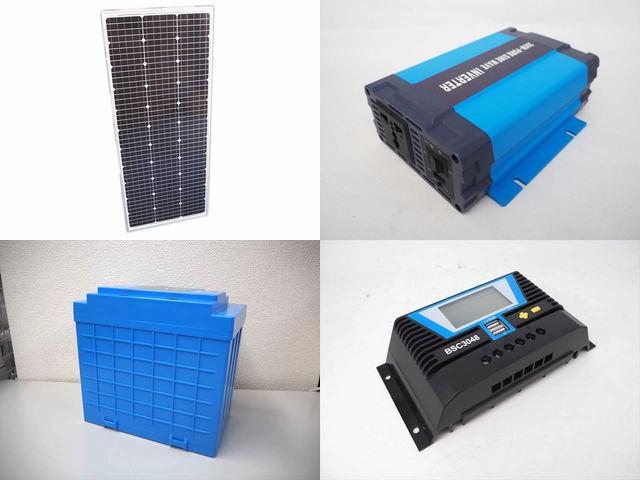 100W(66.5V) 太陽光発電システム(48V仕様) HL-300P BSC3048の写真です。