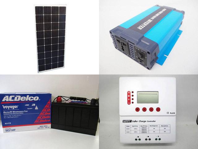 160W×3枚 (480W) 太陽光発電システム(24V仕様) HL-600P PY-M2430(30A)の写真です。