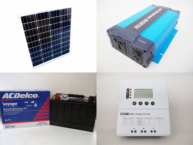 80W×3枚 (240W) 太陽光発電システム HL-600P PY-M2440(40A)の写真です。