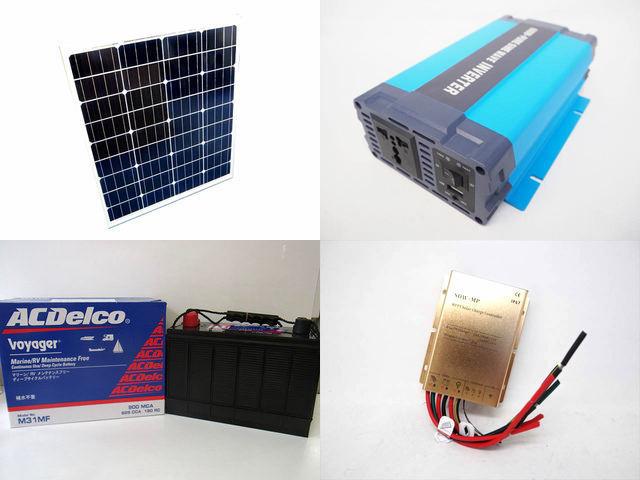 80W×3枚 (240W) 太陽光発電システム HL-600P SDW-MP-2024(20A)の写真です。