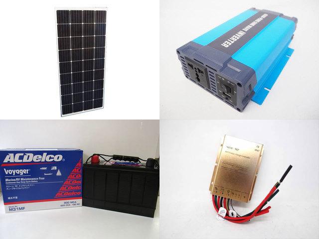 160W×3枚 (480W) 太陽光発電システム(24V仕様) HL-600P SDW-MP-2024(20A)の写真です。