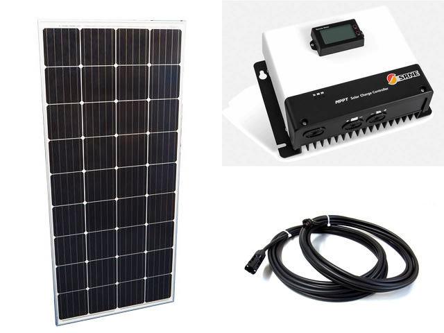 ソーラーパネル160W×20枚 (3,200Wシステム:48V仕様)+MC4885N25(85A)の写真です。