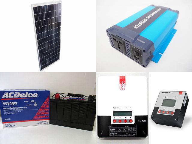 100W×4枚(400W) 太陽光発電システム(24V仕様) HL-600P ML4830N15+SR-RM-5の写真です。