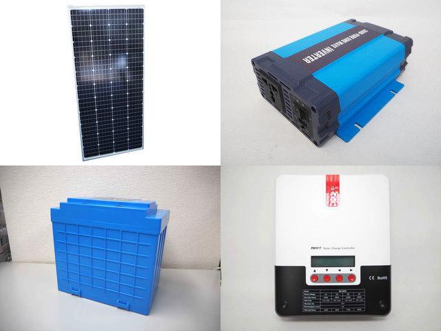 160W(66.6V) 太陽光発電システム(48V仕様) HL-300P ML4830N15の写真です。