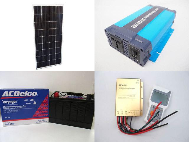 160W×3枚 (480W) 太陽光発電システム(24V仕様) HL-600P SDW-MP-2024(20A)+ リモートコントローラー RC-4の写真です。