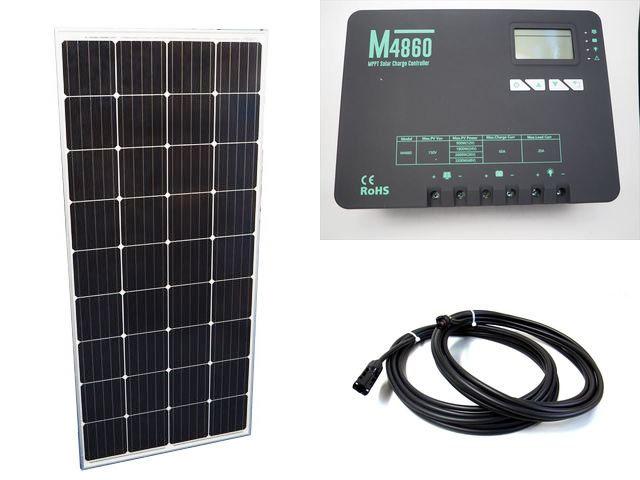 ソーラーパネル160W×20枚 (3,200Wシステム:48V仕様)+M4860(60A)の写真です。
