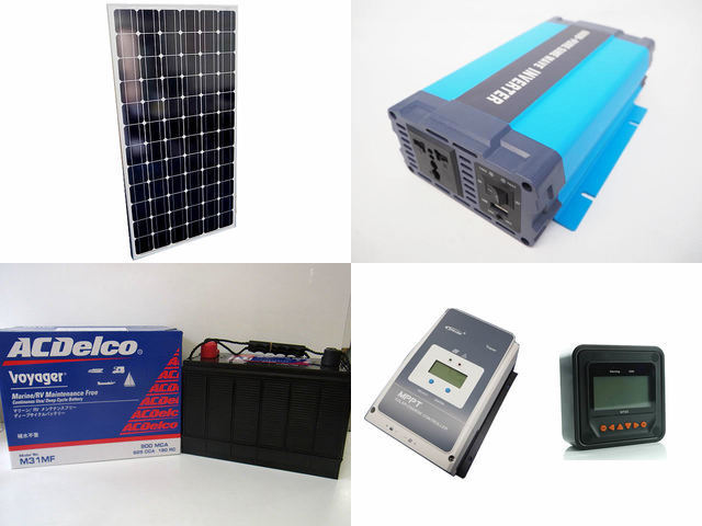 200W×9枚(1,800W) 太陽光発電システム(48V仕様) HL-600P Tracer5420AN+MT50の写真です。