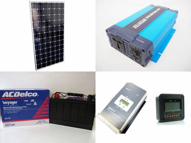 200W×9枚(1,800W) 太陽光発電システム(48V仕様) HL-600P Tracer6420AN+MT50の写真です。