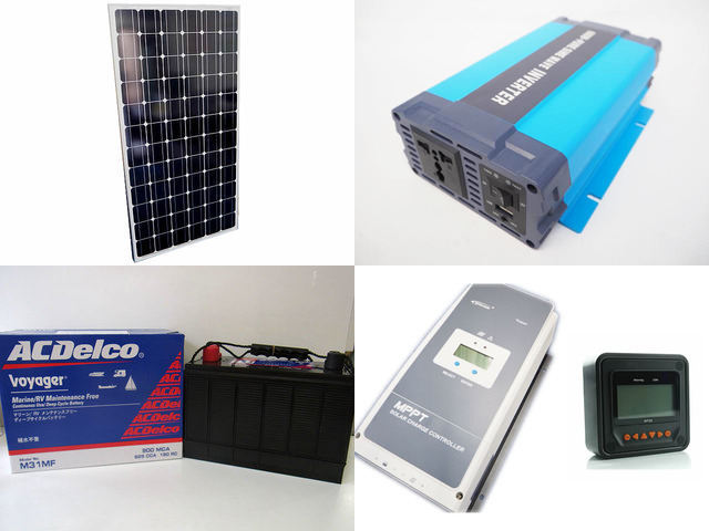 200W×12枚(2,400W) 太陽光発電システム(48V仕様) HL-600P Tracer10420AN+MT50の写真です。