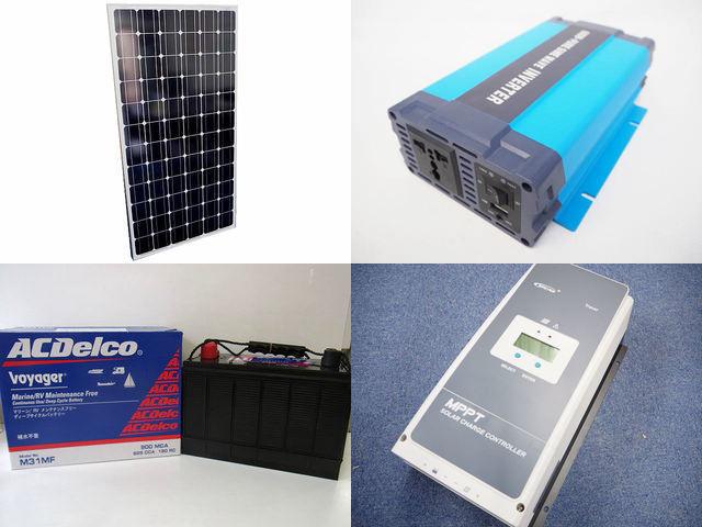 200W×12枚(2,400W) 太陽光発電システム(48V仕様) HL-600P Tracer8420ANの写真です。