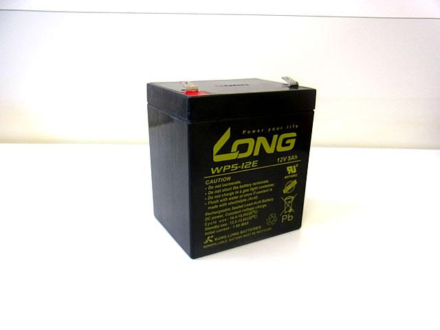 LONG 12V5Ah ディープサイクルバッテリー (WP5-12E)の写真です。
