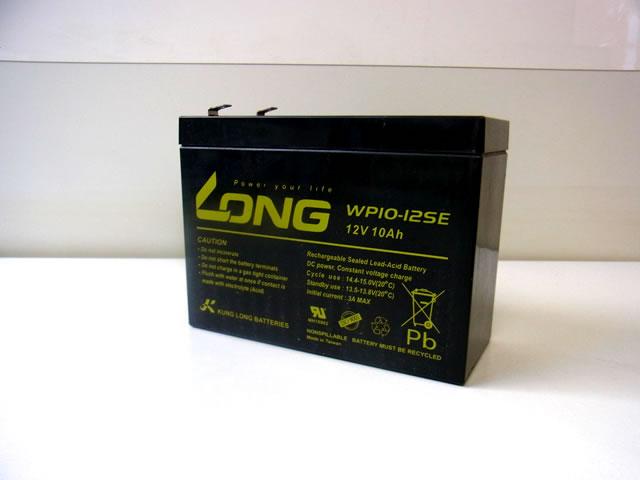 LONG 12V10Ah ディープサイクルバッテリー (WP10-12SE)の写真です。