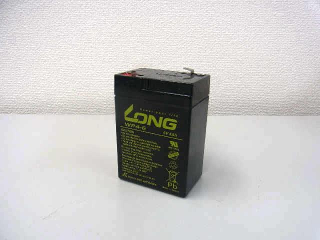 LONG 6V4Ah サイクルバッテリー(WP4-6)の写真です。