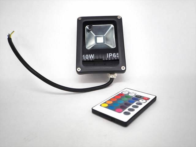 AC85V〜265V用 10W RGBカラー 防水LEDライトの写真です。
