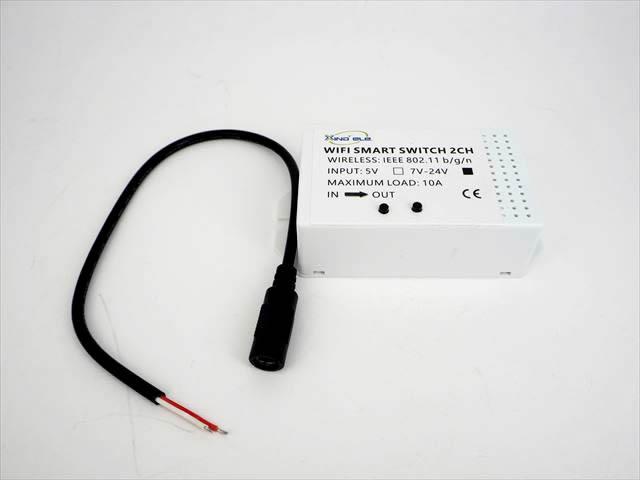 DC7V〜24V用 Wifi スマートスイッチ 2Ch NLWF-CH02の写真です。