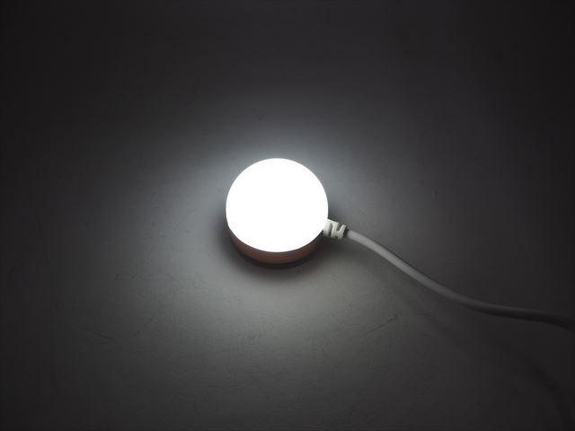 USB専用 2.5W マグネット式LEDライト ※ON/OFFスイッチ付 Whiteの写真です。