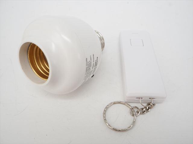 AC用 E27ランプホルダー+ON/OFF ワイヤレスリモートコントローラーの写真です。