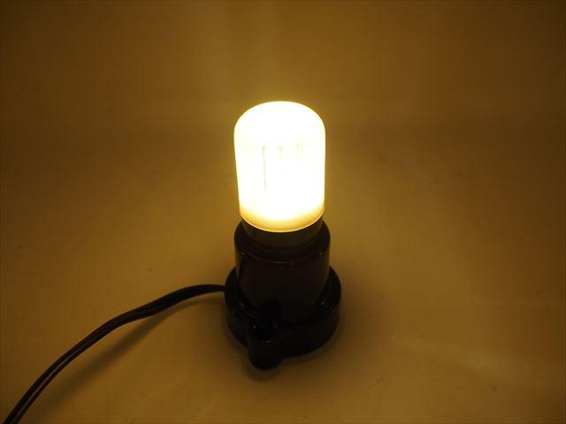 AC100V用 E27 コーンLEDバルブライト 3W ※Warm Whiteの写真です。