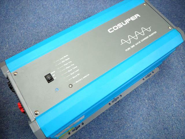 転送スイッチ付き充電器内蔵正弦波インバーター CPT3000-124 Ver.3(24V)※低電圧遮断設定、充電電流調整機能付き