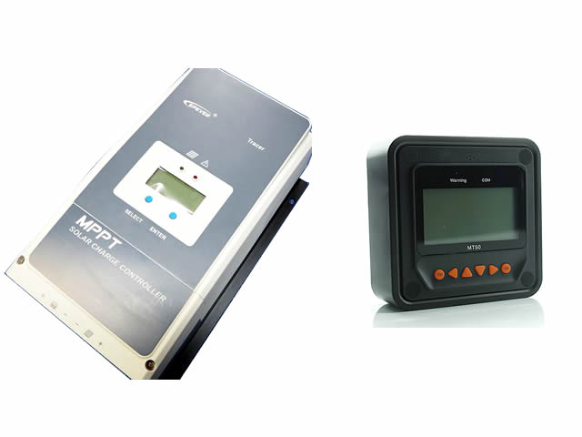 MPPTチャージコントローラー Tracer6420AN(60A)+リモートコントローラーMT50の写真です。