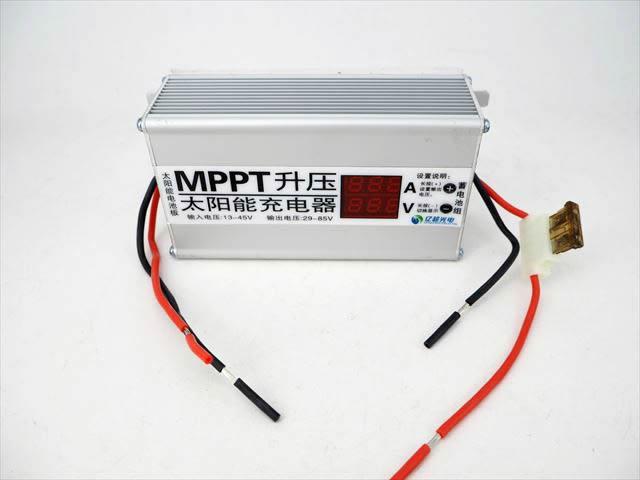 MPPTブーストアップチャージコントローラー(24V/36V/48V/60V/72V)10Aの写真です。