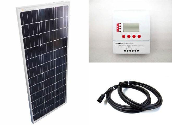 ソーラーパネル100W+PY-M2420(20A)