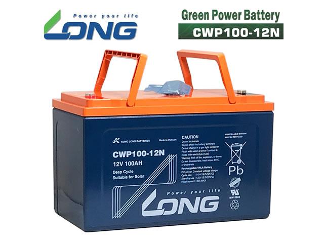 LONG 12V100Ah 密閉型グリーンパワーバッテリー(CWP100-12N)の写真です。