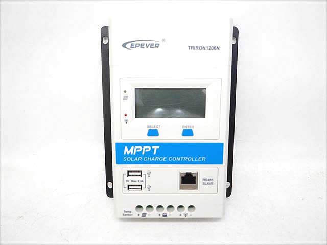 MPPTチャージコントローラー TRIRON1206N-DS1-UCS(10A)の写真です。