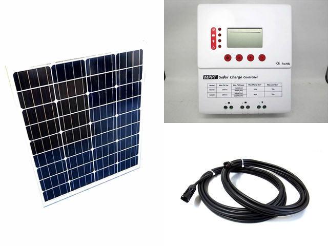 ソーラーパネル80W×2枚 (160Wシステム)+PY-M2430(30A)の写真です。