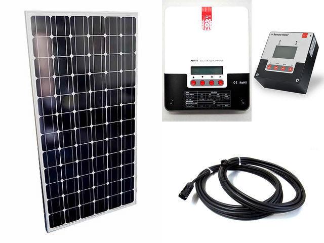ソーラーパネル200W×2枚(400Wシステム:24V仕様)+ML4830N15(30A)+ SR-RM-5の写真です。