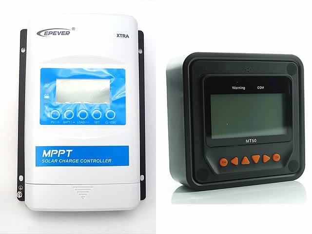 MPPTチャージコントローラー XTRA2210N-XDS2(20A)+リモートメーター MT50
